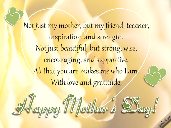 My Mother, My Friend. Free Happy Mother's Day eCards ...