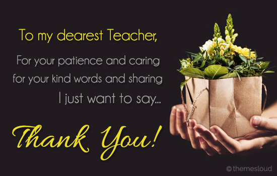 just want to say thank you teacher free teachers day ecards 123