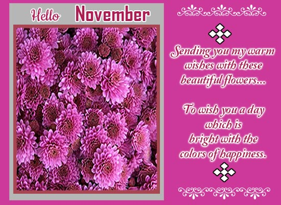 Hello Lovely & Beautiful November!