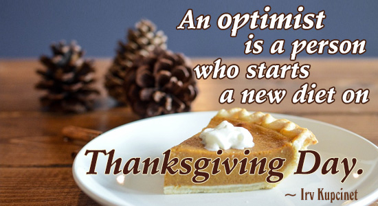 Thanksgiving Optimism.