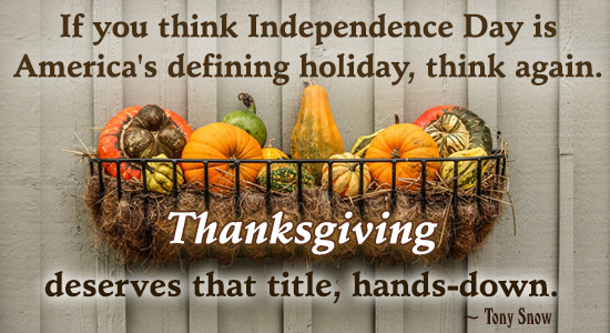 America's Defining Holiday!