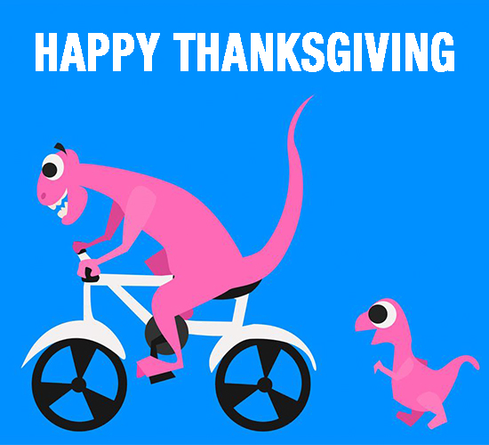Happy Thanksgiving Dinosaur.