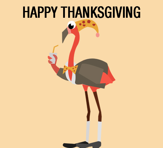 Thanksgiving Flamingo.