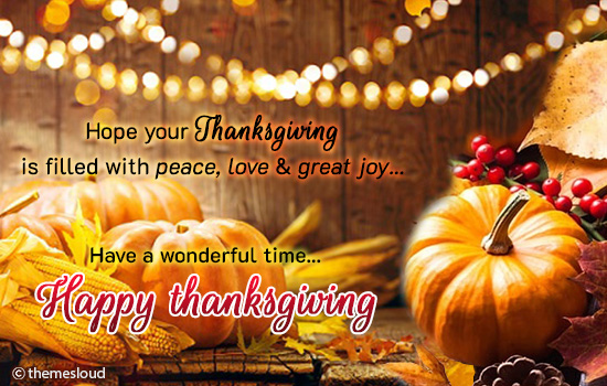 Have A Wonderful Time On Thanksgiving