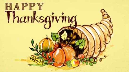 Thanksgiving And Cornucopia. Free Happy Thanksgiving ...