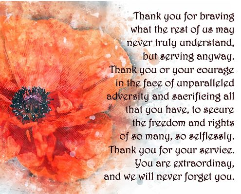A Letter Of Gratitude For Your Service.