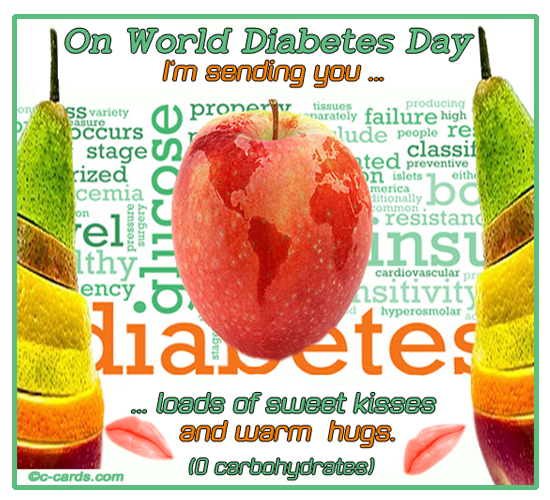 Diabetes Day Hugs And Kisses.
