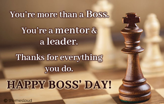 You'Re More Than A Boss. Thank You!