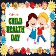 A Cute Child Health Day Card For You.