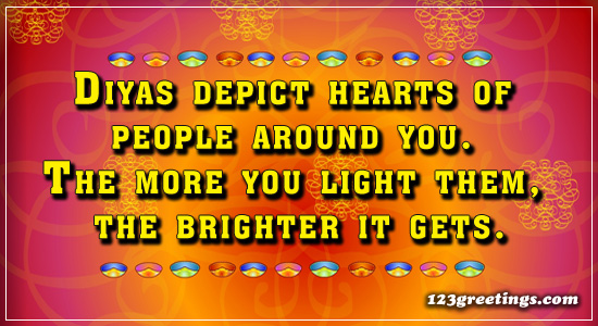 Diyas Depict The Hearts Of...