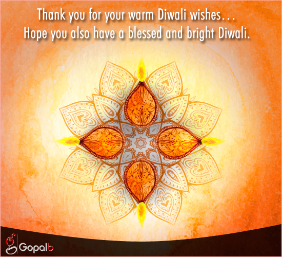 Thank You For Your Warm Diwali Wishes!