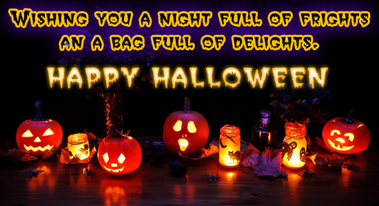 Night Full Of Frights! Free Happy Halloween Messages eCards | 123 ...