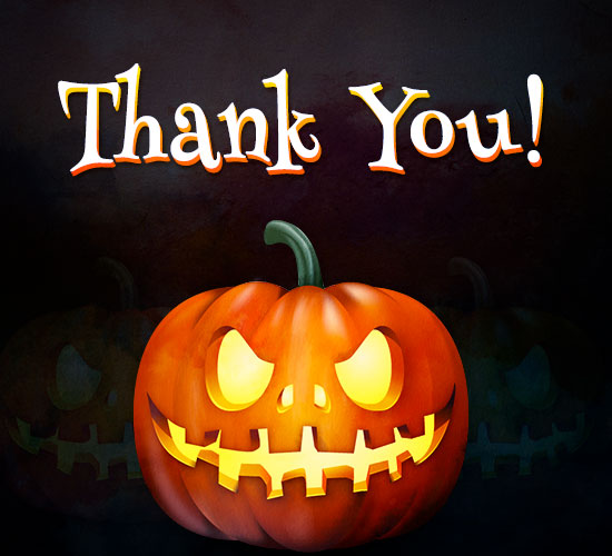 Thank You - Halloween Greeting.
