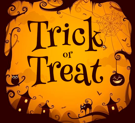 Trick Or Treat Card.