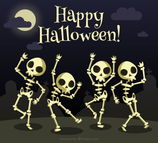 Happy Halloween Skeleton.