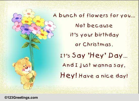Send Say 'Hey' Day Greetings!