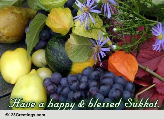 Sukkot cards free sukkot wishes greeting cards 123 greetings m4hsunfo