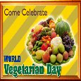 A World Vegetarian Day  Ecard.