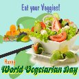 My World Vegetarian Day Ecard.