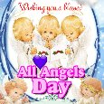 A Blessed All Angels Day Card For You.