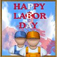 Happy Labor Day Card.