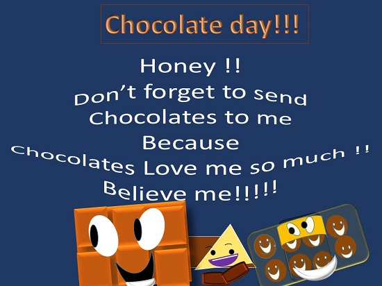 Cute Funny Card For Chocolate Day.