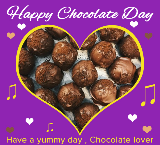 Happy Chocolate Day, Purple.