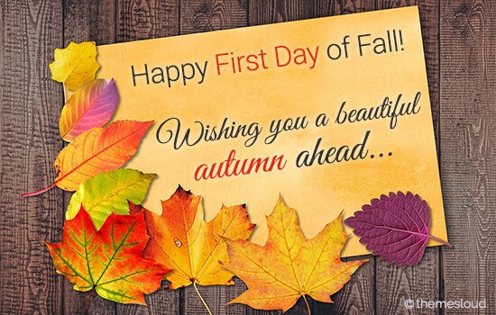 1st Day Of Autumn: Happy First Day Of Fall & Season Ahead. Free First Day Of