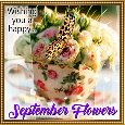 A Happy September Flowers Card.