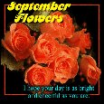 A Romantic September Flowers Ecard.