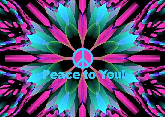 Peace Day, Colorful Retro Explosion.