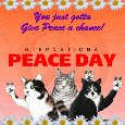 A Nice And Cute Peace Day Message.