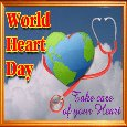 Happy World Heart Day Ecard.