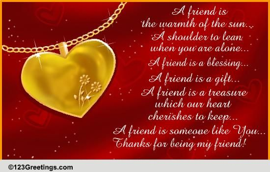 Friendship Quotes Poetry Cards Free Wishes