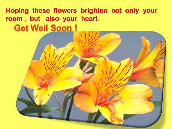 Wish Your Dear One A Speedy Recovery.