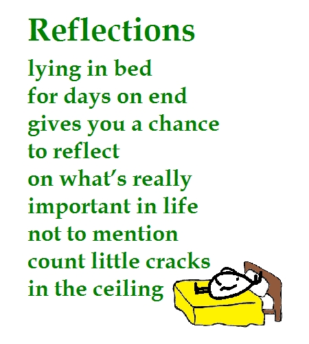 Reflections - A Funny Get Well Poem.