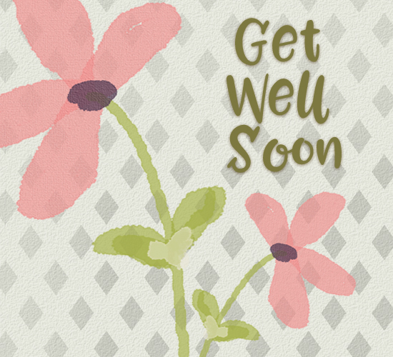 Get Well Soon Pink Flowers.