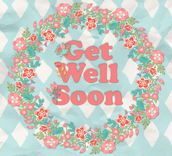 Get Well Soon Flower Wreath.