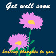 Get Well Soon ,Pink Flowers