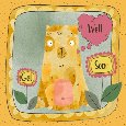 Get Well Soon With Bear And Flowers.