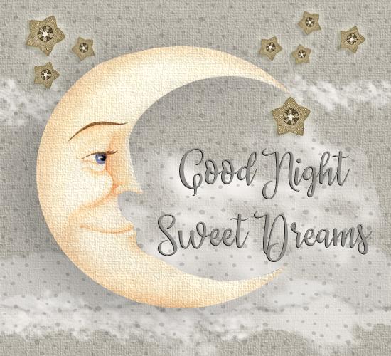 Good Night Sweet Dreams Moon. Free Good Night ECards
