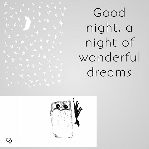Greeting For Good And Wonderful Night.