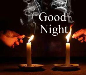 Good Night With Candles Free Ecards Greeting Cards 123 Greetings