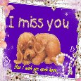 A Cute Miss You Ecard For Your Love.