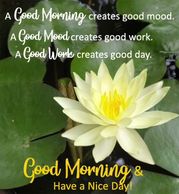 Good Morning Creates Good Day!