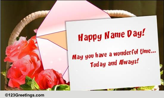Everyday Name Day Cards Free Everyday Name Day Wishes Greeting