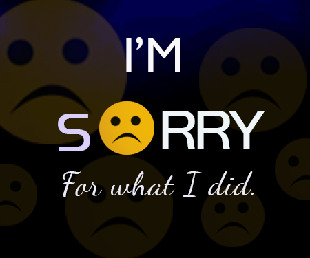 I'm Sorry For.
