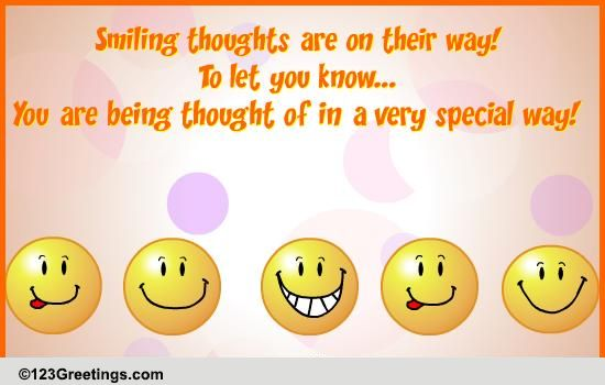 Smiley Thoughts Free Thinking Of You Ecards Greeting Cards 123 Greetings