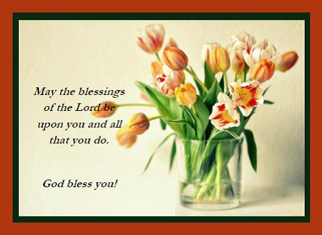The Blessings Of The Lord.