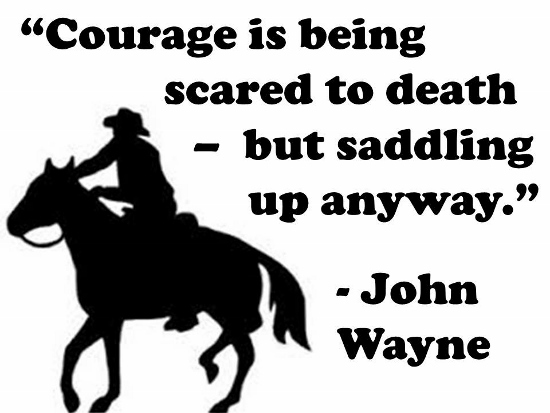 On Courage...
